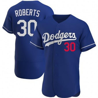 Men's Dave Roberts Los Angeles Royal Authentic Alternate Baseball Jersey (Unsigned No Brands/Logos)