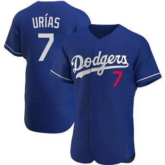 Men's Julio Urias Los Angeles Royal Authentic Alternate Baseball Jersey (Unsigned No Brands/Logos)