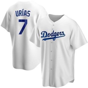Men's Julio Urias Los Angeles White Replica Home Baseball Jersey (Unsigned No Brands/Logos)