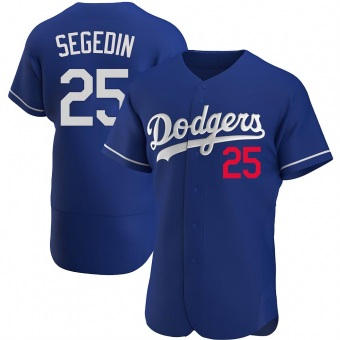 Men's Rob Segedin Los Angeles Royal Authentic Alternate Baseball Jersey (Unsigned No Brands/Logos)