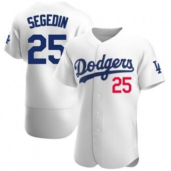 Men's Rob Segedin Los Angeles White Authentic Home Official Baseball Jersey (Unsigned No Brands/Logos)