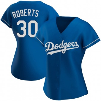 Women's Dave Roberts Los Angeles Royal Authentic Alternate Baseball Jersey (Unsigned No Brands/Logos)