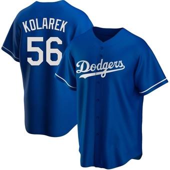 Youth Adam Kolarek Los Angeles Royal Replica Alternate Baseball Jersey (Unsigned No Brands/Logos)