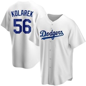 Youth Adam Kolarek Los Angeles White Replica Home Baseball Jersey (Unsigned No Brands/Logos)