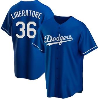 Youth Adam Liberatore Los Angeles Royal Replica Alternate Baseball Jersey (Unsigned No Brands/Logos)