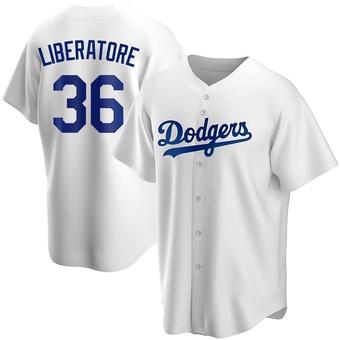 Youth Adam Liberatore Los Angeles White Replica Home Baseball Jersey (Unsigned No Brands/Logos)