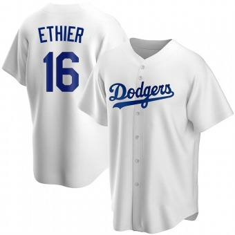 Youth Andre Ethier Los Angeles White Replica Home Baseball Jersey (Unsigned No Brands/Logos)