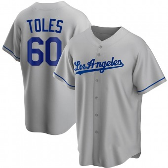 Youth Andrew Toles Los Angeles Gray Replica Road Baseball Jersey (Unsigned No Brands/Logos)