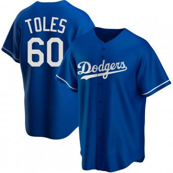 Youth Andrew Toles Los Angeles Royal Replica Alternate Baseball Jersey (Unsigned No Brands/Logos)