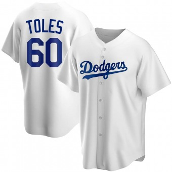 Youth Andrew Toles Los Angeles White Replica Home Baseball Jersey (Unsigned No Brands/Logos)
