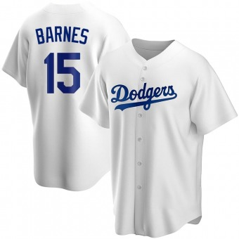 Youth Austin Barnes Los Angeles White Replica Home Baseball Jersey (Unsigned No Brands/Logos)