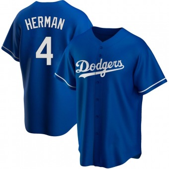 Youth Babe Herman Los Angeles Royal Replica Alternate Baseball Jersey (Unsigned No Brands/Logos)