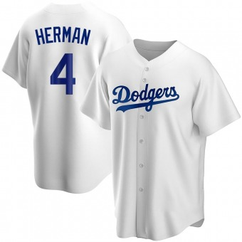 Youth Babe Herman Los Angeles White Replica Home Baseball Jersey (Unsigned No Brands/Logos)