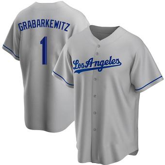 Youth Billy Grabarkewitz Los Angeles Gray Replica Road Baseball Jersey (Unsigned No Brands/Logos)