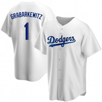 Youth Billy Grabarkewitz Los Angeles White Replica Home Baseball Jersey (Unsigned No Brands/Logos)
