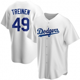 Youth Blake Treinen Los Angeles White Replica Home Baseball Jersey (Unsigned No Brands/Logos)