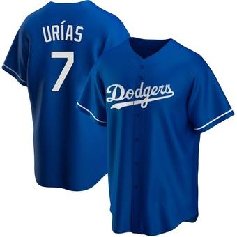 Youth Julio Urias Los Angeles Royal Replica Alternate Baseball Jersey (Unsigned No Brands/Logos)